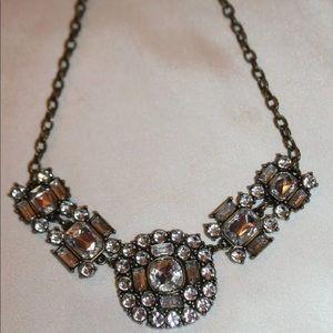 J. Crew Czech rhinestone crystal necklace